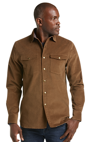 Men's Clearance, Reserve Collection Tailored Fit Velour Shirt Jacket CLEARANCE - Jos A Bank