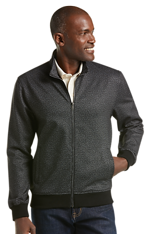 Men's Clearance, Reserve Collection Tailored Fit Full Zip Jacket CLEARANCE - Jos A Bank