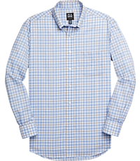 Men's Sale, Traveler Collection Tailored Fit Button-Down Collar Plaid Sportshirt - Jos A Bank