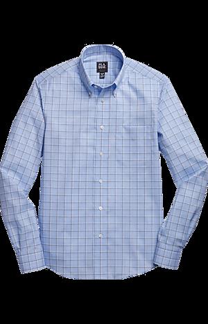 Men's Sale, Traveler Collection Slim Fit Button-Down Collar Plaid Sportshirt - Jos A Bank