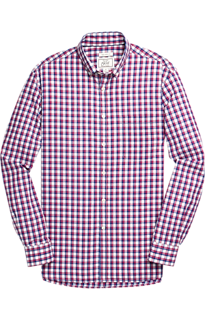 Men's FLYOUT_COLLECTION, 1905 Collection Tailored Fit Button-Down Collar Check Sportshirt - Big & Tall - Jos A Bank