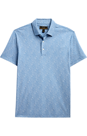 Men's Shirts, Reserve Collection Slim Fit Floral Short Sleeve Polo - Jos A Bank