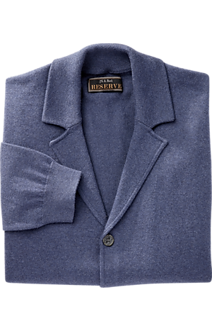 Men's Sweaters, Reserve Collection Tailored Fit Cotton & Cashmere Cardigan Sweater Jacket - Jos A Bank