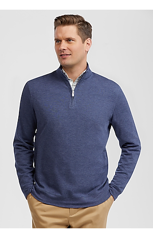Men's Featured, Reserve Collection Traditional Fit Quarter Zip Mock Neck Knit - Jos A Bank