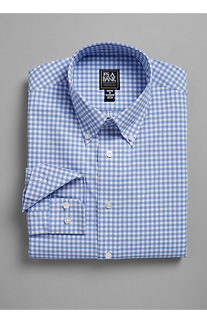 Men's Sale, Traveler Collection Slim Fit Button-Down Collar Check Sportshirt - Jos A Bank
