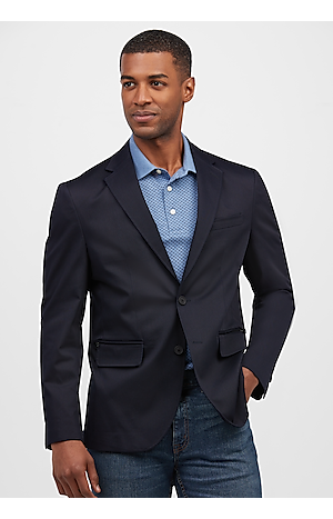 Men's SportCoats, Travel Tech Tailored Fit Soft Jacket - Jos A Bank