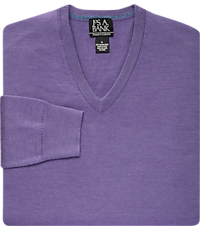 9a3b4b119140 Men's Special Categories, Traveler Collection Tailored Fit Merino Wool V-Neck  Sweater - Jos