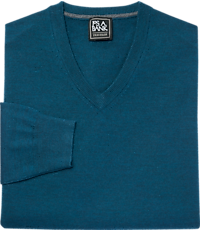 Men's FLYOUT_CATEGORY, Traveler Collection Merino Wool V-Neck Sweater - Big & Tall - Jos A Bank