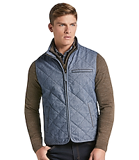 19ebaafce9 1905 Collection Tailored Fit Donegal Diamond Quilted Vest CLEARANCE