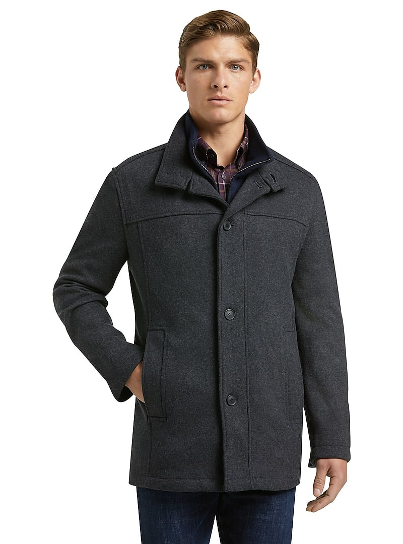Jos. A. Bank Men's 1905 Collection Tailored Fit Car Coat in Charcoal