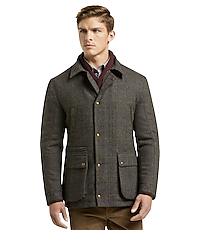 504a6480fe 1905 Collection Tailored Fit Windowpane Plaid Barn Jacket CLEARANCE