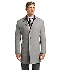 1905 Collection Tailored Fit Twill Topcoat - Big & Tall