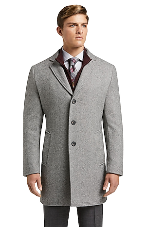 Men's FLYOUT_CATEGORY, 1905 Collection Tailored Fit Twill Topcoat - Big & Tall - Jos A Bank