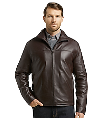 505b330b1 Reserve Collection Traditional Fit Leather Jacket