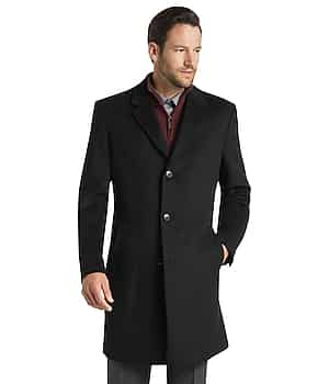 Joseph A. Bank Tailored Fit Wool-Blend Topcoat