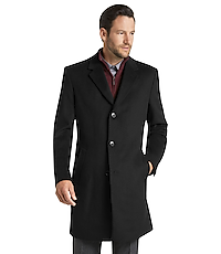 Joseph A. Bank Tailored Fit Wool-Blend Topcoat - Big & Tall