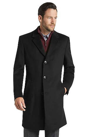 Men's FLYOUT_CATEGORY, Joseph A. Bank Tailored Fit Wool-Blend Topcoat - Big & Tall - Jos A Bank