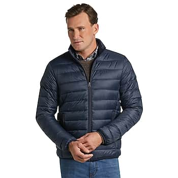 Jos. A. Bank Men's 1905 Collection Tailored Fit Packable Quilted Jacket