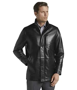 Reserve Collection Traditional Fit 3/4 Walker Length Leather Jacket