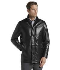 purchase cheap 91ce4 61f12 Reserve Collection Traditional Fit 3/4 Walker Length Leather Jacket