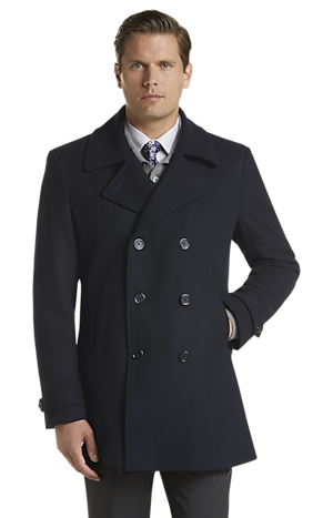 Men's FLYOUT_CATEGORY, Reserve Collection Tailored Fit Peacoat - Big & Tall - Jos A Bank