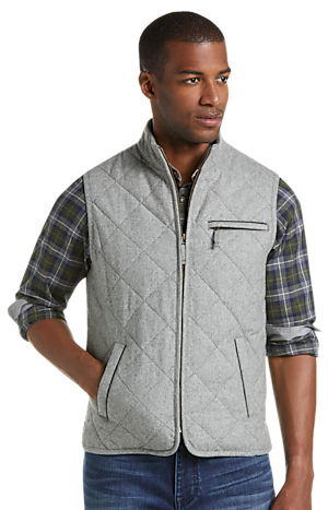 Men's Clearance, 1905 Collection Tailored Fit Quilted Vest CLEARANCE - Jos A Bank