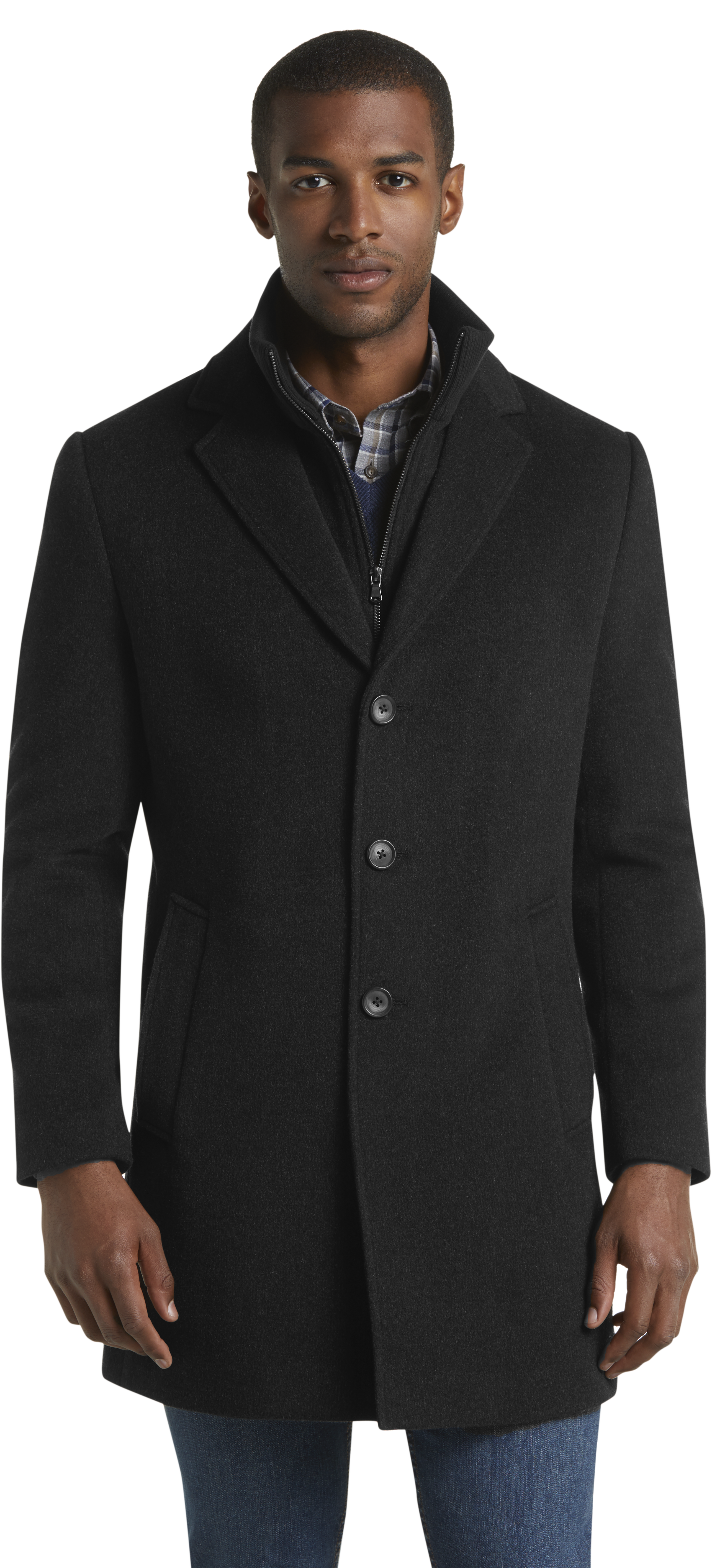 1905 Collection Tailored Fit Wool Blend Topcoat
