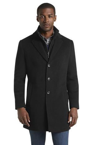 Men's Featured, 1905 Collection Tailored Fit Wool Blend Topcoat - Jos A Bank