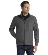 Reserve Collection Traditional Fit Microfiber Bomber Jacket