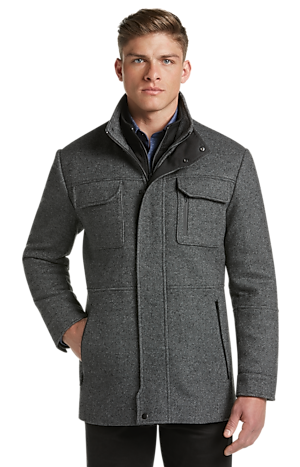 Men's FLYOUT_CATEGORY, 1905 Collection Tailored Fit Tweed Field Coat - Big & Tall - Jos A Bank
