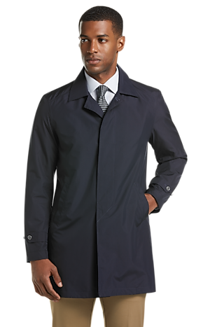 Men's Outerwear, Traveler Collection Tailored Fit Packable Trench Jacket - Jos A Bank