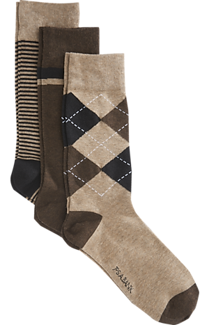 Men's Accessories, Jos. A Bank Stripe & Argyle Patterned Dress Socks, 3-Pack - Jos A Bank