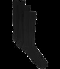 Jos. A. Bank Solid Ribbed Dress Socks, 3-Pack