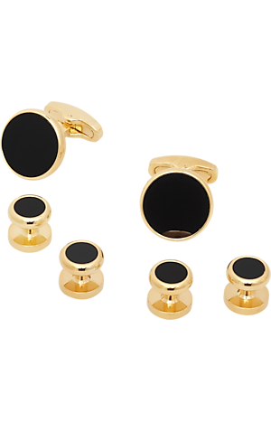 Men's Accessories, Jos. A. Bank Onyx Cufflink & Stud Set - Jos A Bank