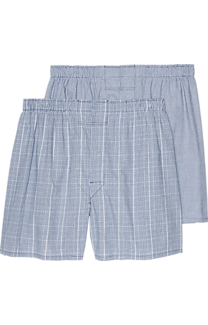 Men's Accessories, Jos. A. Bank Plaid Woven Boxers, 2-Pack - Jos A Bank