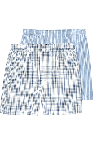 Men's Accessories, Jos. A. Bank Plaid & Stripe Woven Boxers, 2-Pack - Jos A Bank