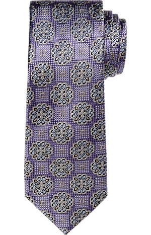Men's Clearance, Reserve Collection Floral Medallion Tie - Long CLEARANCE - Jos A Bank