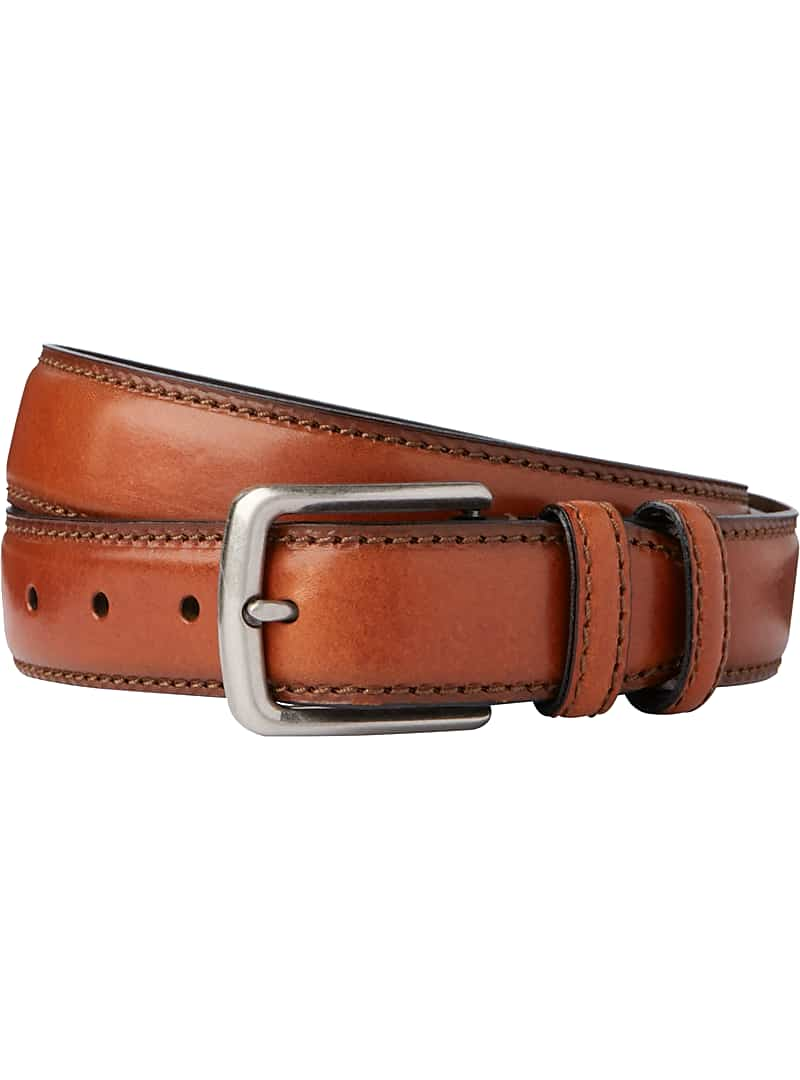 Jos. A. Bank Stitch-Edged Leather Belt