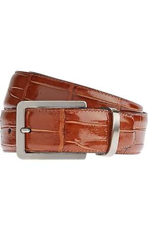 Men's Accessories, Jos. A. Bank Crocodile Embossed Leather Belt - Jos A Bank