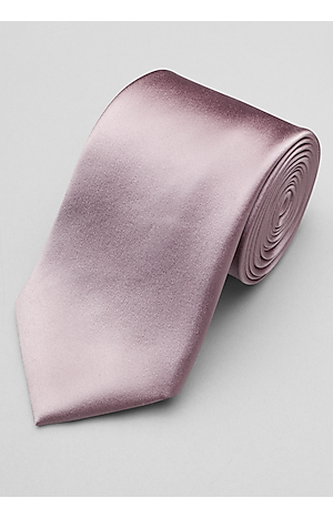 Men's Accessories, Reserve Collection Solid Satin Tie - Jos A Bank