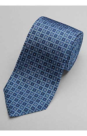 Men's Clearance, Traveler Collection Square Grid Tie - Long CLEARANCE - Jos A Bank