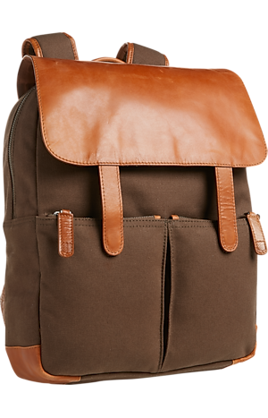 Men's Clearance, Jos. A. Bank Canvas & Leather Backpack CLEARANCE - Jos A Bank