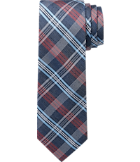1905 Collection Bold Plaid Tie - Long CLEARANCE