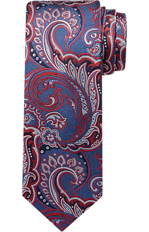 Men's Clearance, Reserve Collection Scrolling Floral Tapestry Tie CLEARANCE - Jos A Bank