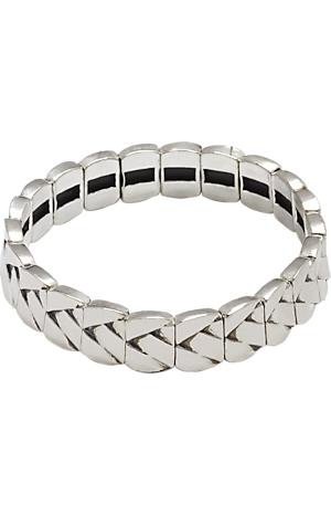 Men's Accessories, Jos. A. Bank Silver-Tone Stretch Bracelet - Jos A Bank
