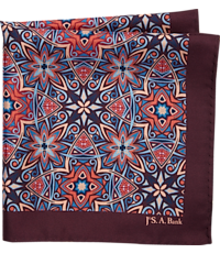 689074faf078f Men's Accessories, Jos. A. Bank Stained Glass Medallion Pocket Square - Jos  A