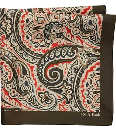 6e713b291bf6d Jos. A. Bank Scrolling Paisley Pocket Square - All Accessories | Jos ...