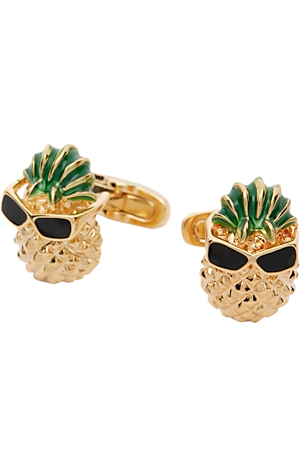 Men's Accessories, Jos. A. Bank Gold Pineapples & Sunglasses Cufflinks - Jos A Bank
