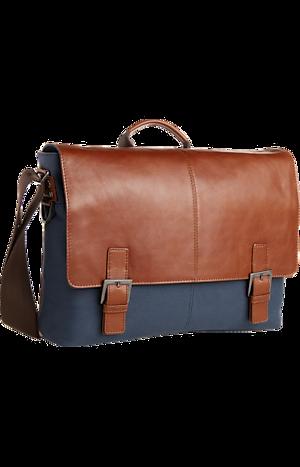Jos. A. Bank Leather & Canvas Shoulder Bag