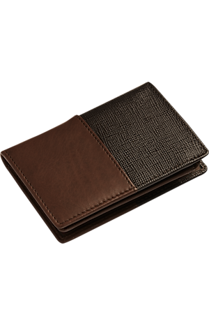Men's Accessories, Jos. A. Bank Leather Two Tone L-Fold Wallet - Jos A Bank